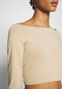 Monki - KIRA - Langarmshirt - light beige - 4