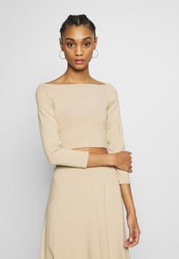 Monki - KIRA - Langarmshirt - light beige - 0