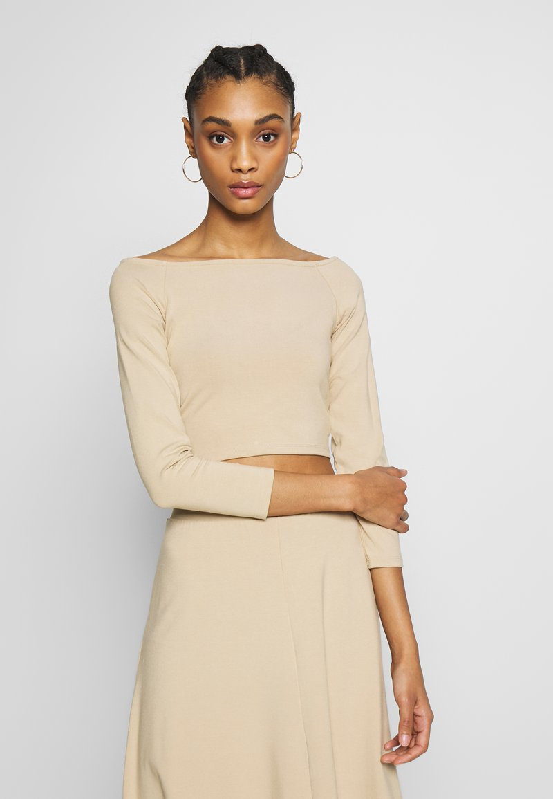 Monki - KIRA - Langarmshirt - light beige