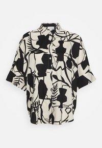Monki - LUCA BLOUSE - Button-down blouse - beige - 4