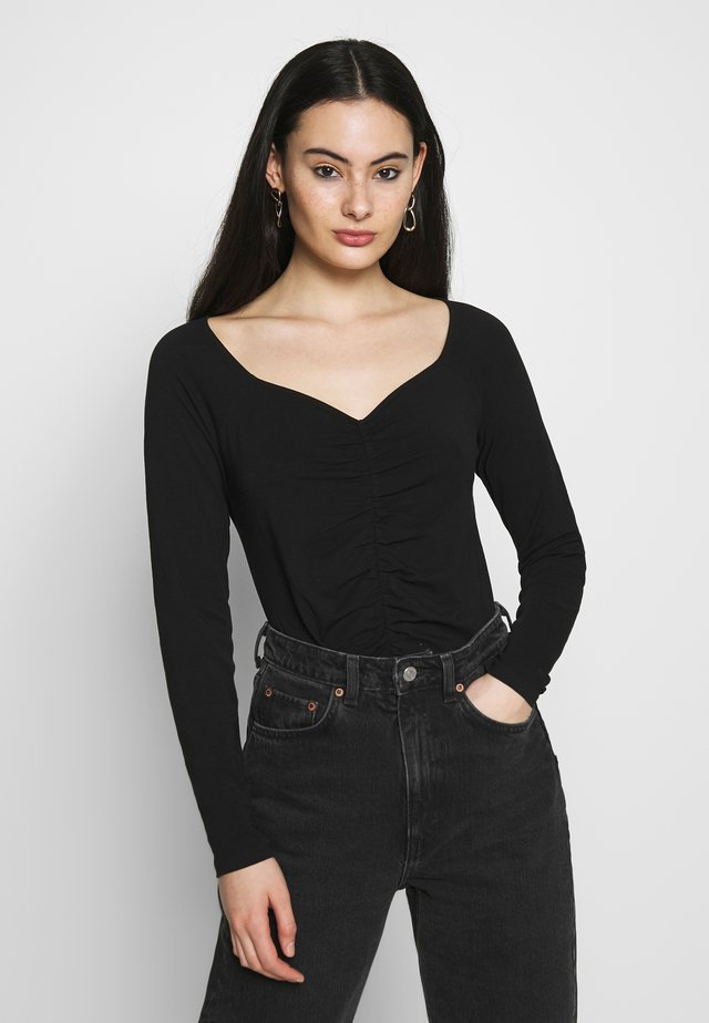 MONIKA TOP - Langarmshirt - black