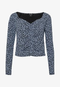 Monki - MONIKA TOP - Longsleeve - black littlefloral.blue - 4