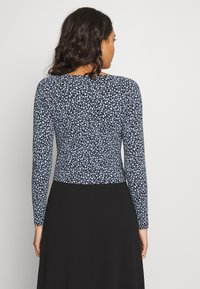 Monki - MONIKA TOP - Longsleeve - black littlefloral.blue