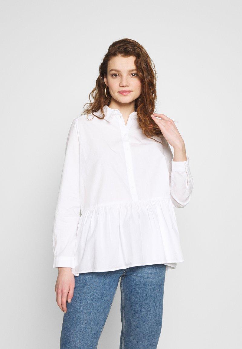 Monki - OFELIA BLOUSE - Bluser - white light solid