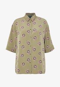 Monki - TAMRA BLOUSE - Košile - khaki/print catty - 3