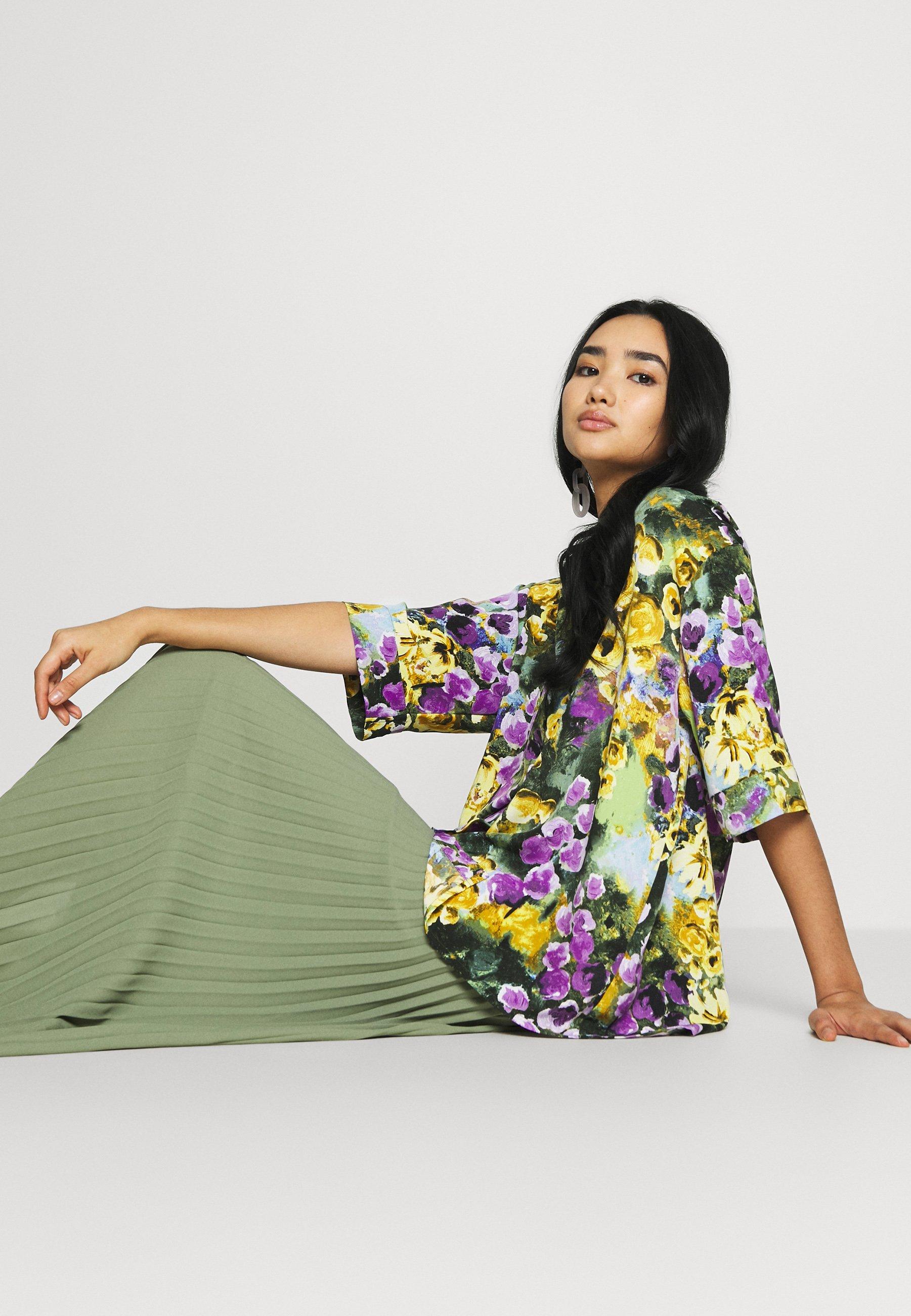 Monki Tamra Blouse - Button-down Yellow