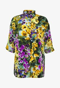 Monki - TAMRA BLOUSE - Button-down blouse - yellow - 4