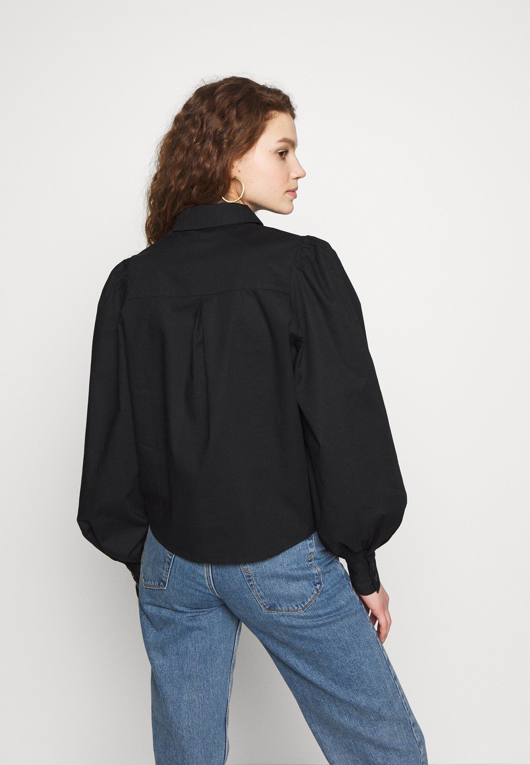 Monki VALLON BLOUSES - Skjorte - black dark