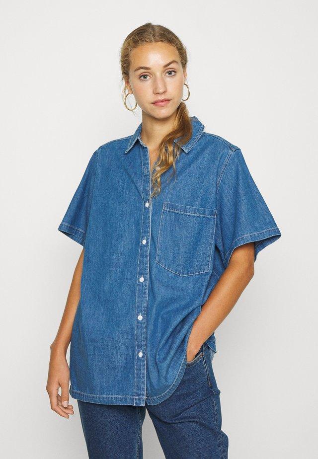KATJA  - Button-down blouse - blue