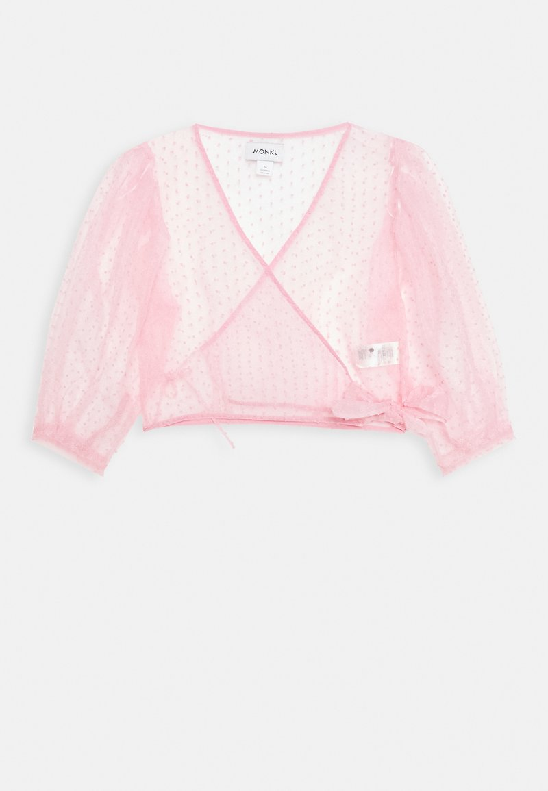 Monki - OLIVIA BLOUSE - Blouse - light pink organza
