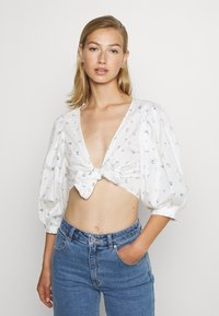 Monki - SOLA BLOUSE - Pusero - white - 0