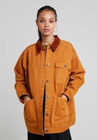 Monki - SARAH JACKET - Short coat - tobacco/dark brown - 0