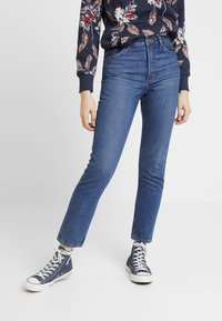 Monki - KIMOMO CLASSIC - Straight leg jeans - classic blue - 0