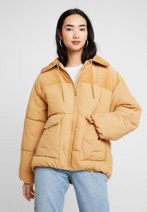LENA JACKET - Zimní bunda - beige dark/color mustard