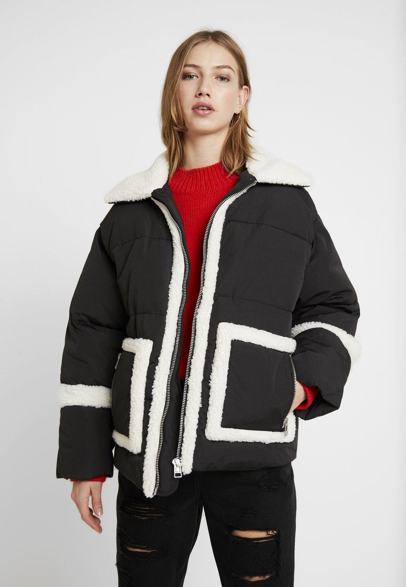 Monki - JODY JACKET - Winter jacket - black/dark ol/white