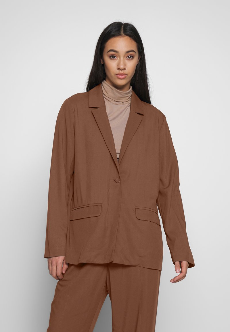 Monki - DANI - Blazer - brown dark