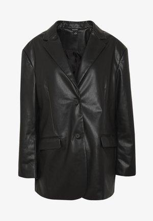 GRACE - Faux leather jacket - black