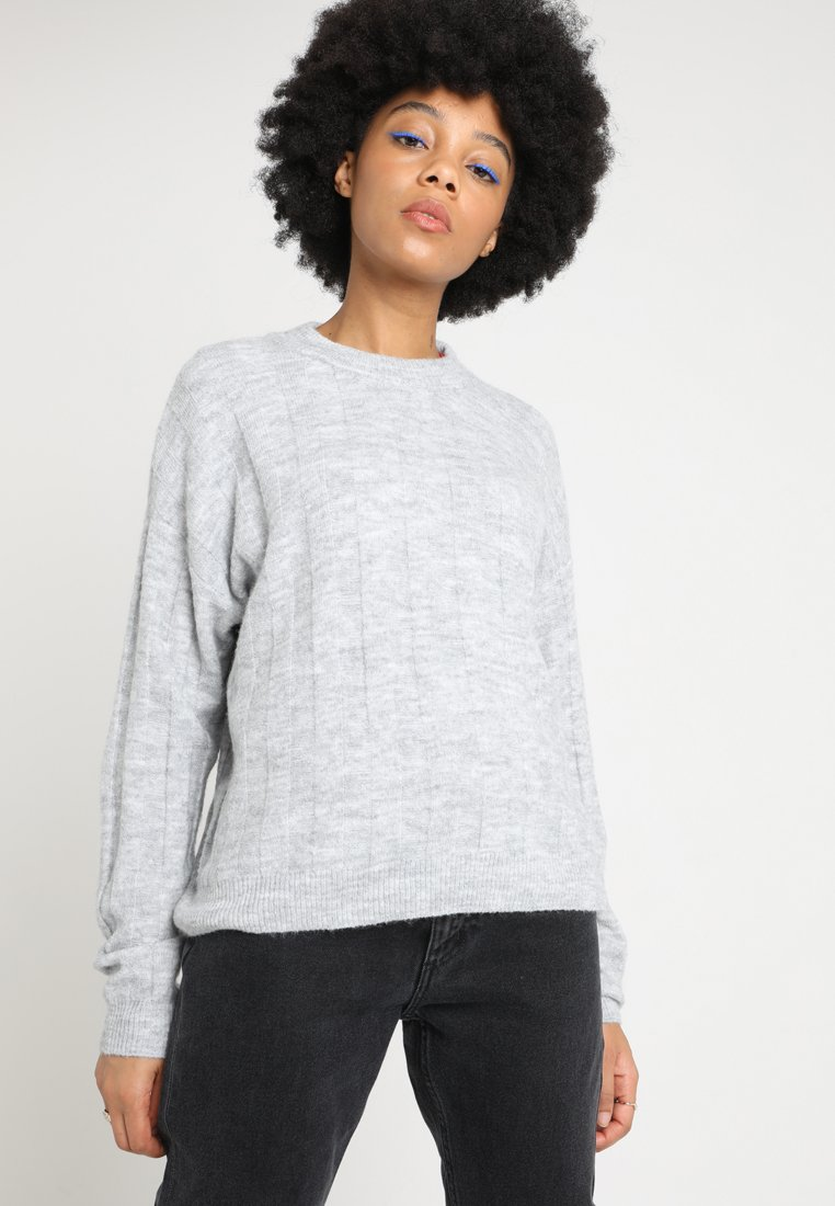 Monki - VALENCIA  - Strickpullover -  light greymelange