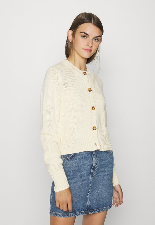 PAMELA CARDIGAN - Kofta - yellow dusty light