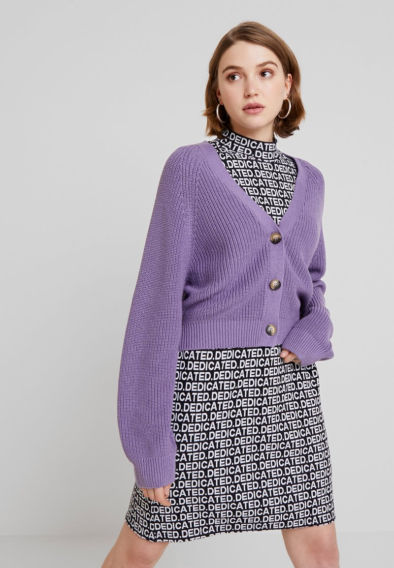 Monki - ZETA CARDIGAN - Cardigan - lilac purple medium