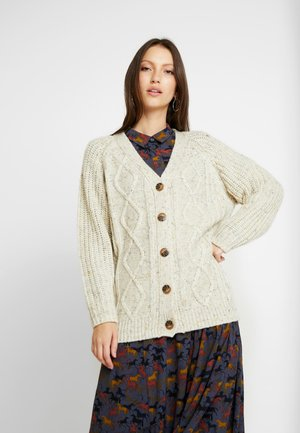 MATTIS CARDIGAN - Chaqueta de punto - white dusty light