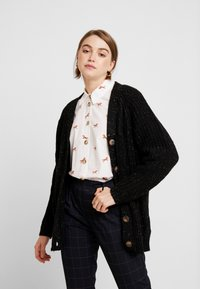 Monki - MATTIS CARDIGAN - Gilet - black dark - 0