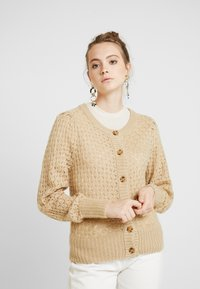Monki - MARIA CARDIGAN - Cardigan - beige medium dusty - 0