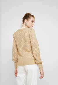 Monki - MARIA CARDIGAN - Cardigan - beige medium dusty