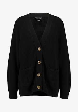 MARIA CARDIGAN - Cardigan - black dark turtoise buttons