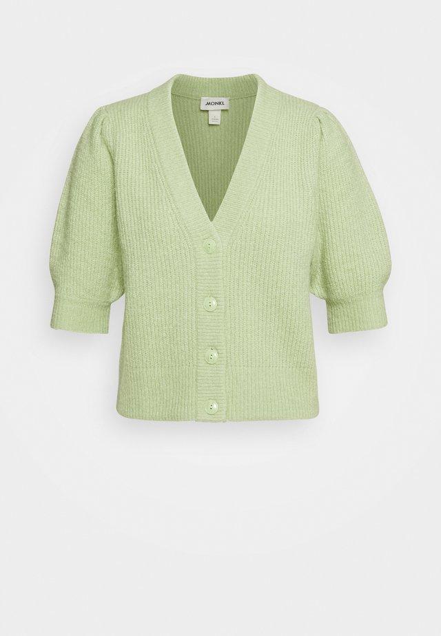 PUFFY CARDIGAN - Vest - green dusty light