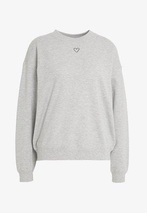 Sweatshirt - grey dusty light grey melange