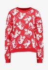 Sweatshirt - red/white
