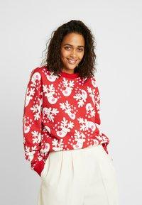 Monki - Sweatshirt - red/white - 0