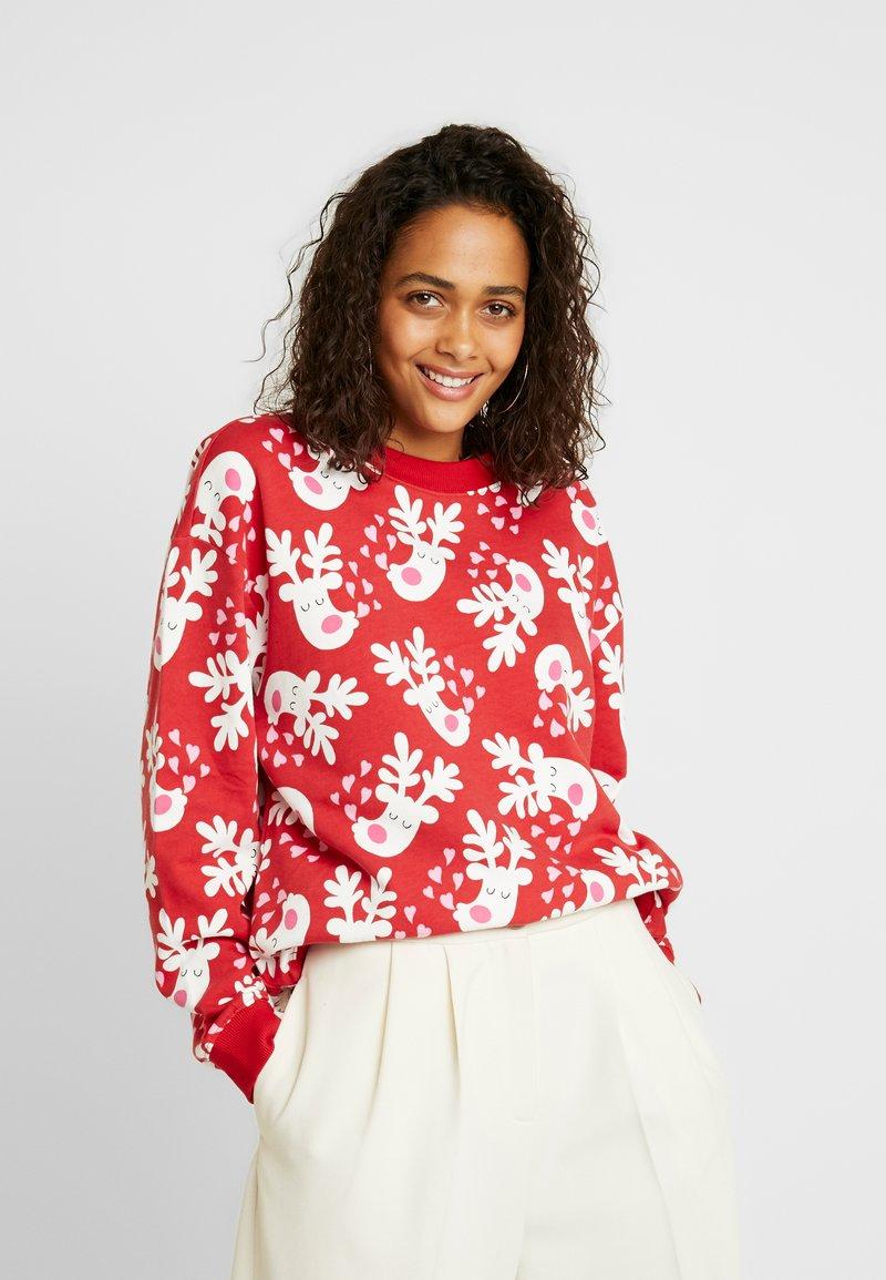 Monki - Sweatshirt - red/white