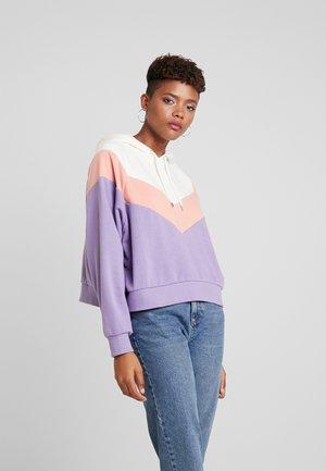 ODINA SPECIAL - Bluza z kapturem - beige/lilac/coral
