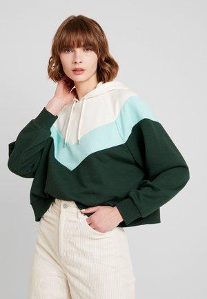 ODINA SPECIAL - Kapuzenpullover - dark green/white/mint