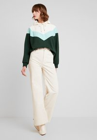 Monki - ODINA SPECIAL - Huppari - dark green/white/mint - 1