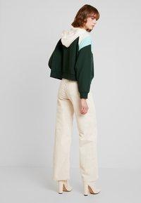 Monki - ODINA SPECIAL - Huppari - dark green/white/mint - 2