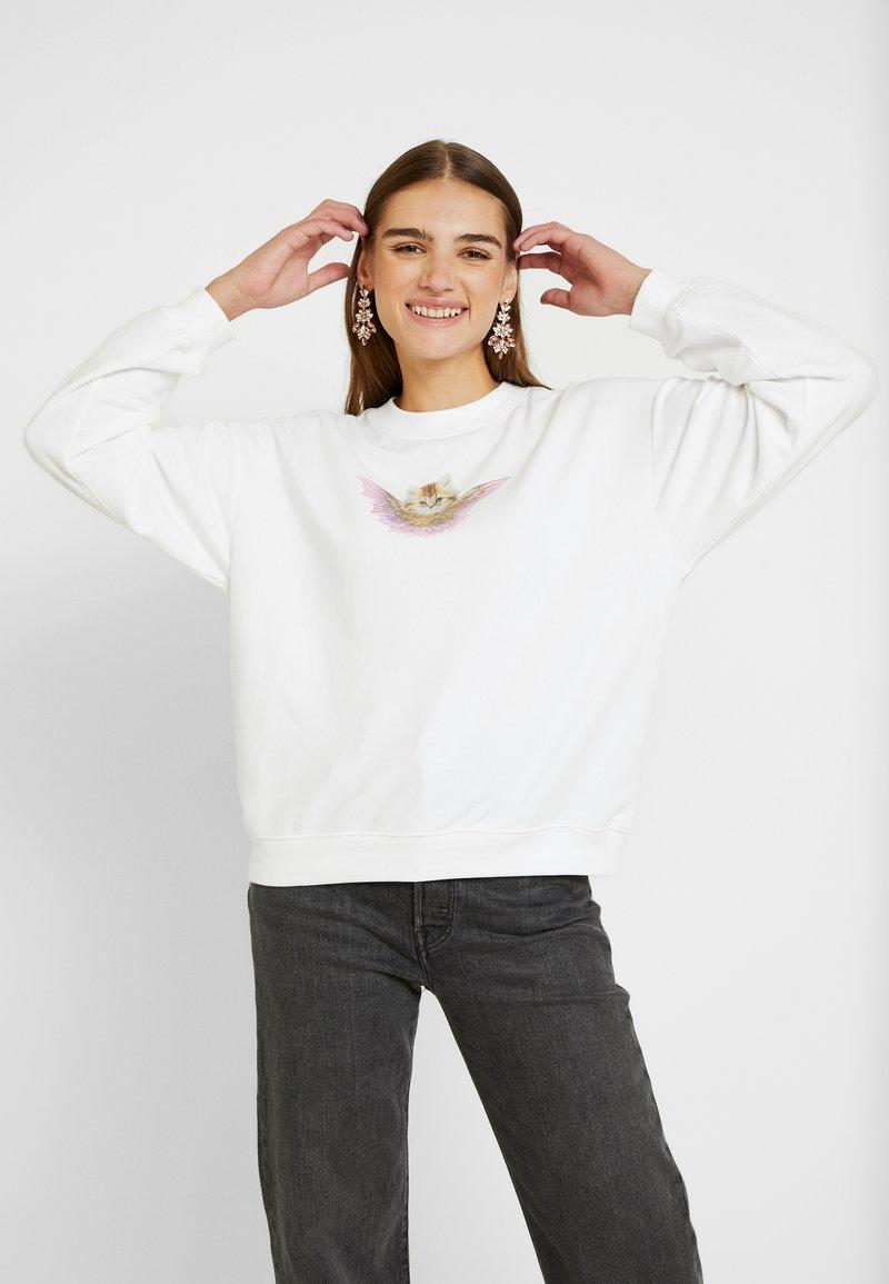 Monki - Sweatshirt - white