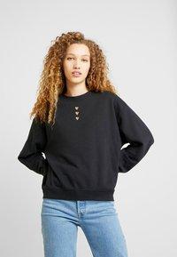Monki - Sweatshirts - navy placementprint - 0