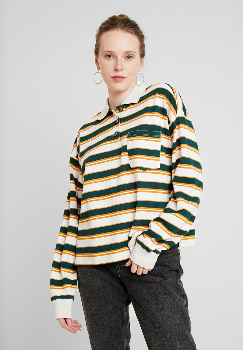 Monki - MIA - Sweatshirt - off-white/green