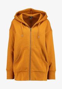 Monki - JOA HOODIE - Zip-up hoodie - camel - 4