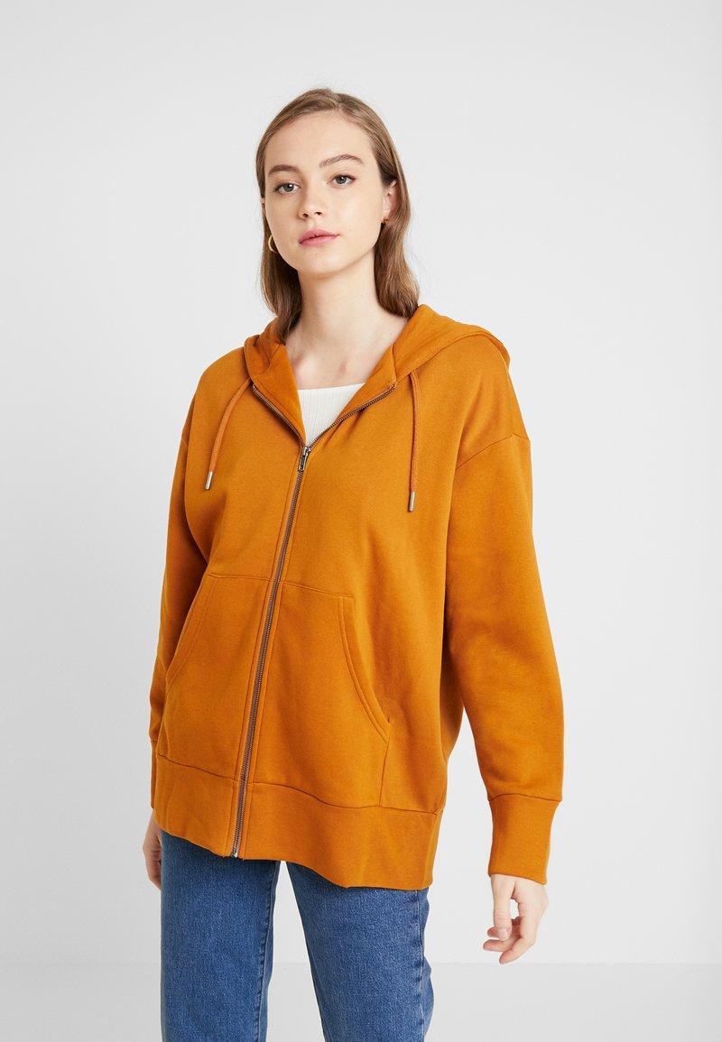 Monki - JOA HOODIE - Zip-up hoodie - camel