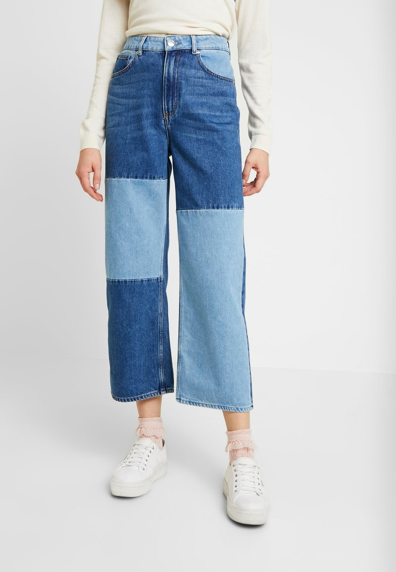 Monki - MOZIK BLOCK - Jeans relaxed fit - blue