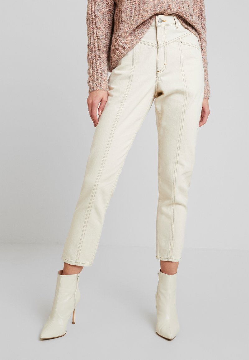 Monki - ANDREA - Straight leg jeans - off white