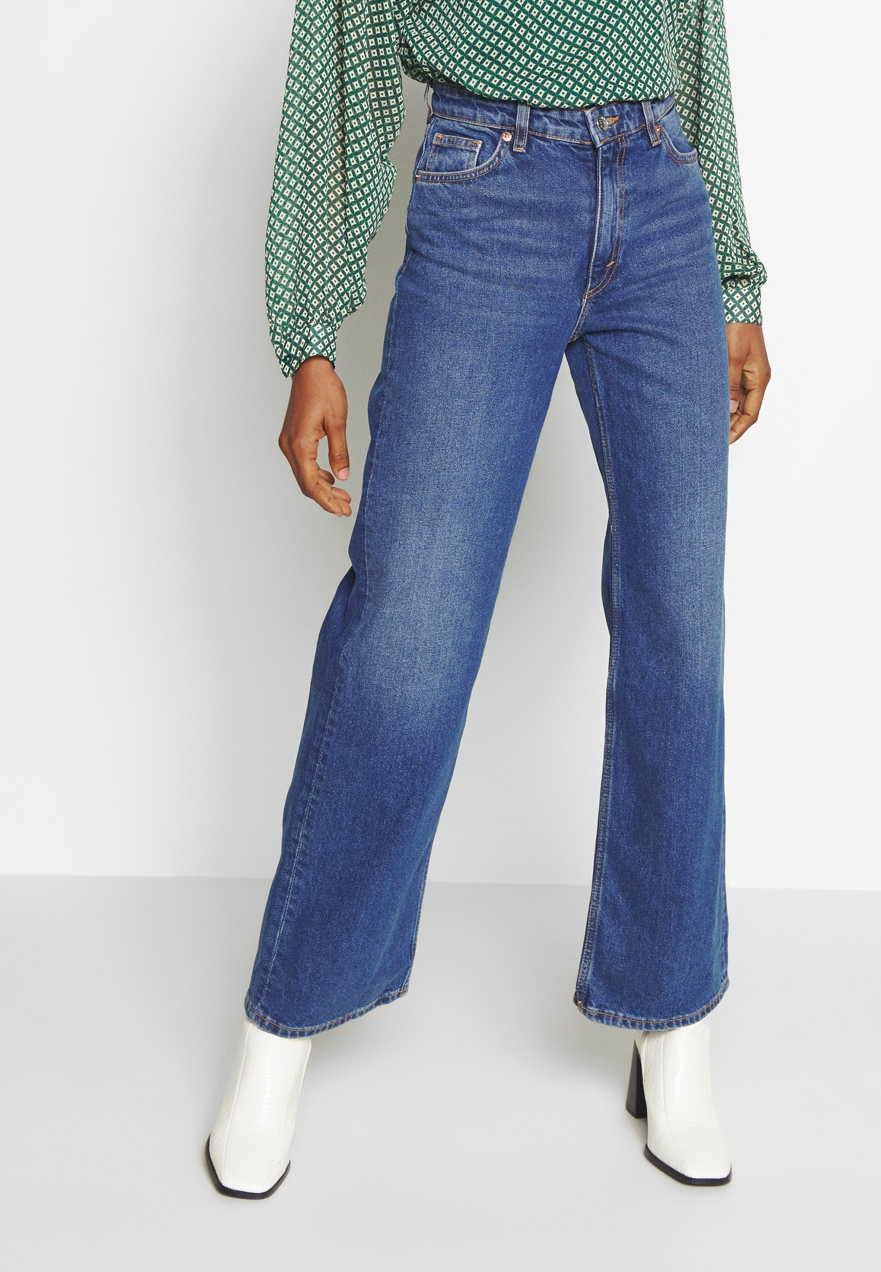 Monki YOKO Jean droit blue medium dusty ZALANDO.FR