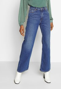 Monki - YOKO - Straight leg jeans - blue medium dusty - 0