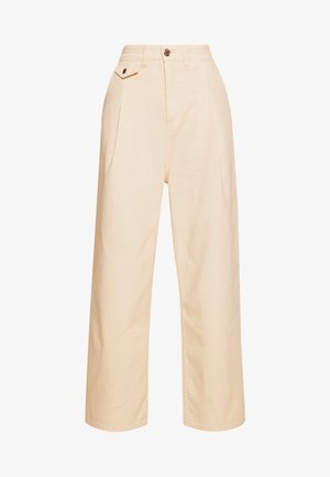 NANI TROUSERS - Vaqueros a campana - white light