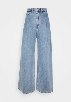 NANI TROUSERS - Flared Jeans - blue medium dusty