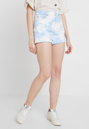 KELLY - Jeans Short / cowboy shorts - tiedye blue wash